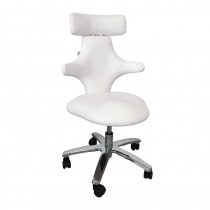 Lotus Monroe Therapist Stool White