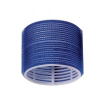 Jumbo Velcro Rollers Dark Blue 78mm x 6