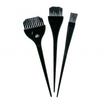 Colortrak Assorted Colour Brushes 3pk Black