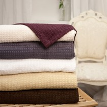 BC Softwear Serenity Spa Waffle Patterned Bath Sheet Slate Grey XL 100x170cm