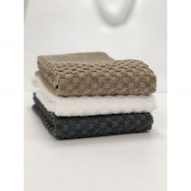 BC Softwear Serenity Spa Waffle Patterned Hand Towel Pebble 50x90cm