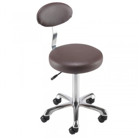 REM Cutting/Beauty Therapist Stool with Backrest