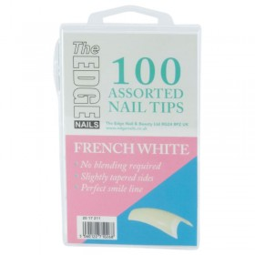 The Edge French White Tips x 100 Assorted (Boxed)