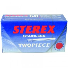Sterex Stainless Steel Two Piece Needles F2S Short - Box of 50