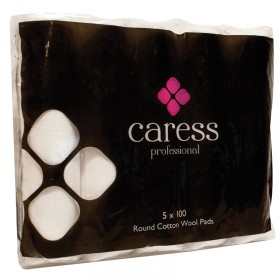 Caress Professional Round Cotton Wool Pads x 500