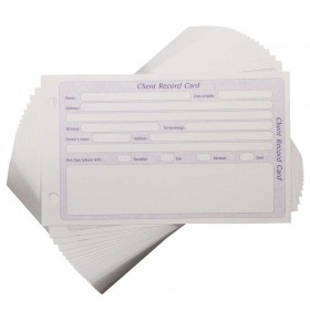 General Client Record Cards Pre-punched (100)