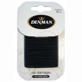 Denman Black Elastics Pack of 30 2mm width