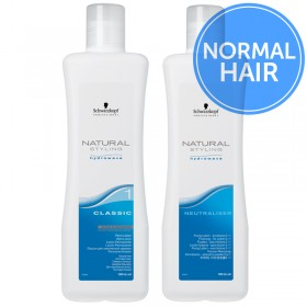 Schwarzkopf Natural Styling Hydrowave Classic Perm + Neutraliser - 1 Normal Hair 2 x 1 Litre