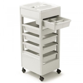 REM Studio Trolley White with Accessory Top Tray