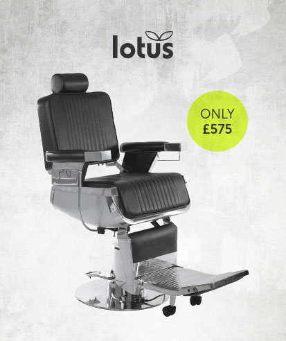 Lotus Raleigh Barber Chair Black  | Salons Direct